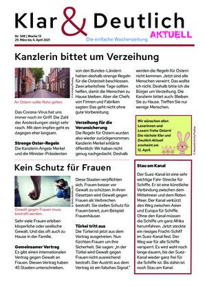 Klar & Deutlich Aktuell 348/2021 (29.03.2021)
