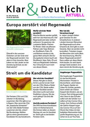 Klar & Deutlich Aktuell 350/2021 (19.04.2021)
