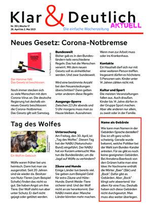 Klar & Deutlich Aktuell 351/2021 (26.04.2021)