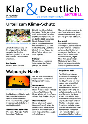 Klar & Deutlich Aktuell 352/2021 (03.05.2021)