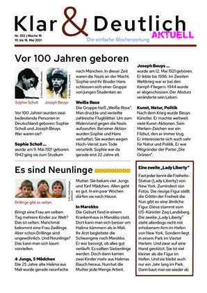 Klar & Deutlich Aktuell 353/2021 (10.05.2021)