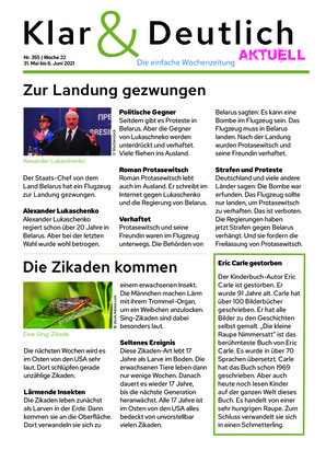 Klar & Deutlich Aktuell 355/2021 (30.05.2021)