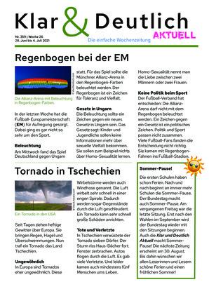 Klar & Deutlich Aktuell 359/2021 (28.06.2021)