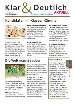 Klar & Deutlich Aktuell 362/2021 (13.09.2021)