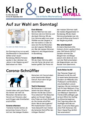 Klar & Deutlich Aktuell 363/2021 (20.09.2021)