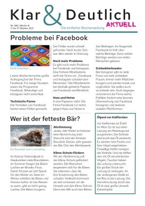 Klar & Deutlich Aktuell 366/2021 (11.10.2021)