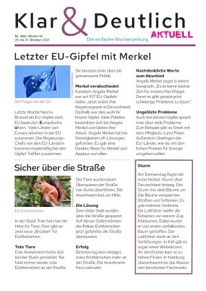 Klar & Deutlich Aktuell 368/2021 (25.10.2021)