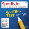 Spotlight Audio - Writing test and tips