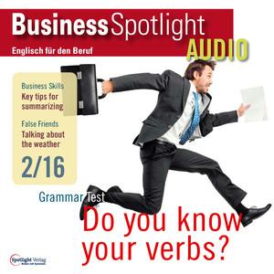 Business Spotlight Audio - Grammar test: Do you know your verbs?
