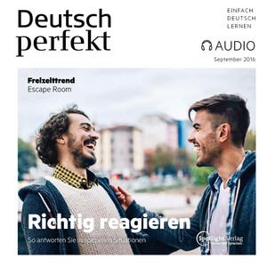 Deutsch perfekt Audio - Richtig reagieren