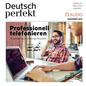 Deutsch perfekt Audio - Professionell telefonieren