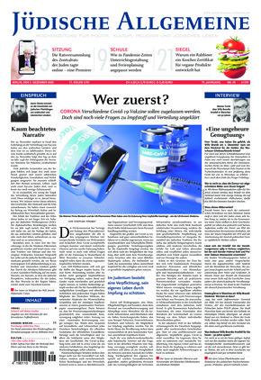 Jüdische Allgemeine 49/2020 (03.12.2020)