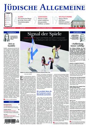 Jüdische Allgemeine 30/2021 (29.07.2021)