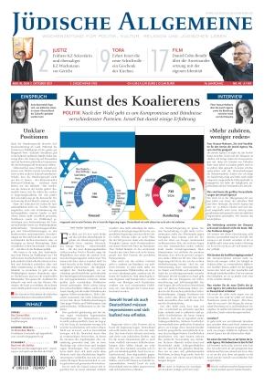 Jüdische Allgemeine 40/2021 (07.10.2021)