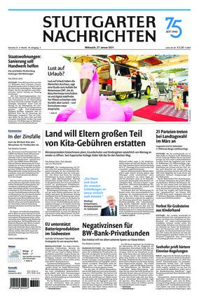 Stuttgarter Nachrichten (27.01.2021)