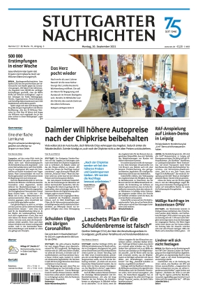 Stuttgarter Nachrichten (20.09.2021)
