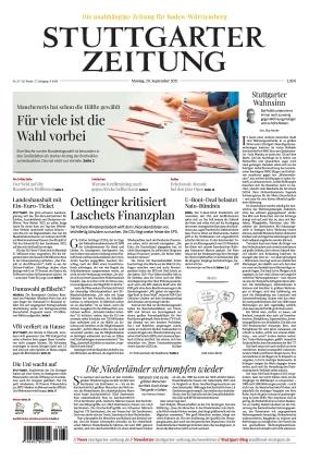 Stuttgarter Zeitung (20.09.2021)