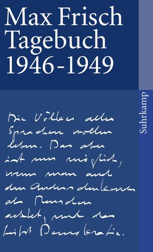 Max Frisch Tagebuch 1946-1949