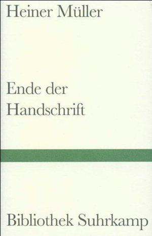 Ende der Handschrift