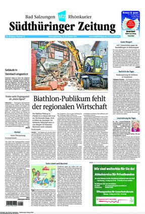 Südthüringer Zeitung (16.01.2021)