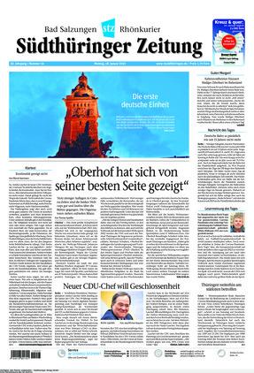 Südthüringer Zeitung (18.01.2021)