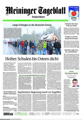 Meininger Tageblatt (25.01.2021)