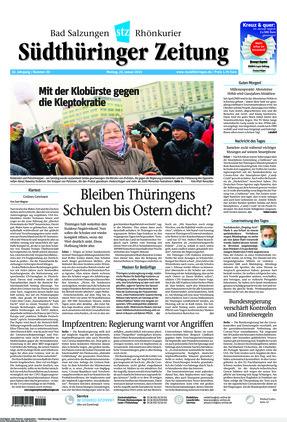 Südthüringer Zeitung (25.01.2021)