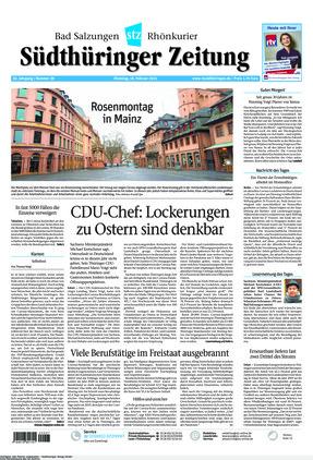 Südthüringer Zeitung (16.02.2021)