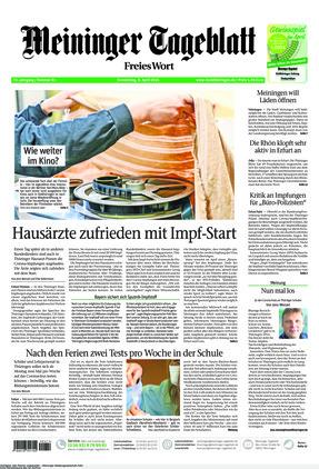 Meininger Tageblatt (08.04.2021)