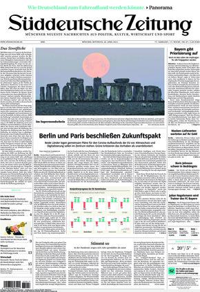 Süddeutsche Zeitung (28.04.2021)