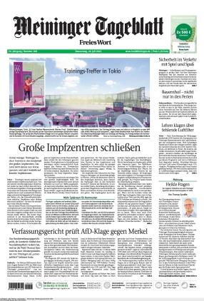 Meininger Tageblatt (22.07.2021)