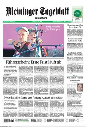 Meininger Tageblatt (26.07.2021)