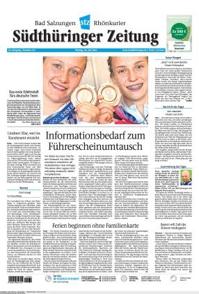 Südthüringer Zeitung (26.07.2021)