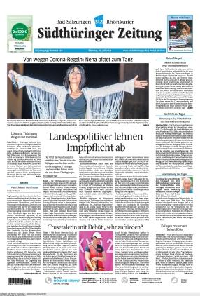 Südthüringer Zeitung (27.07.2021)