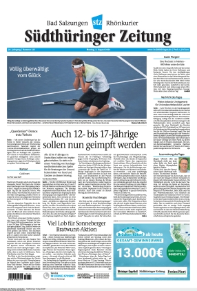 Südthüringer Zeitung (02.08.2021)