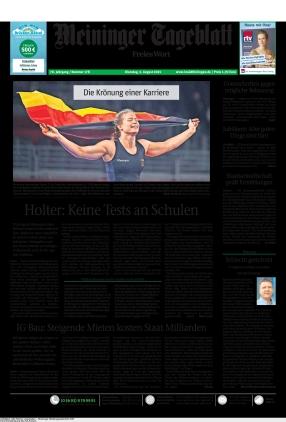 Meininger Tageblatt (03.08.2021)