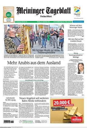 Meininger Tageblatt (13.09.2021)
