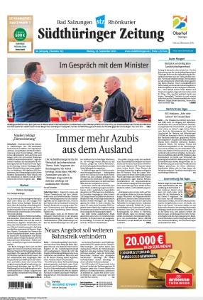 Südthüringer Zeitung (13.09.2021)