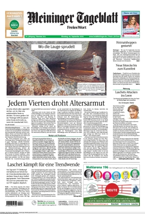 Meininger Tageblatt (14.09.2021)