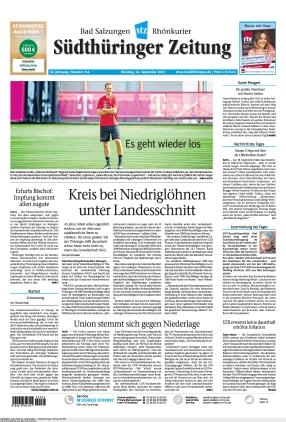 Südthüringer Zeitung (14.09.2021)