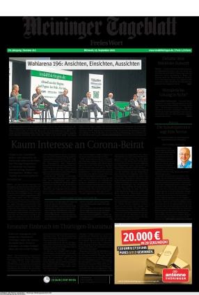 Meininger Tageblatt (15.09.2021)