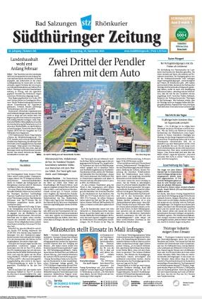 Südthüringer Zeitung (16.09.2021)