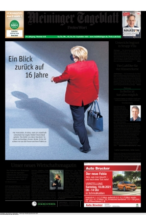 Meininger Tageblatt (18.09.2021)