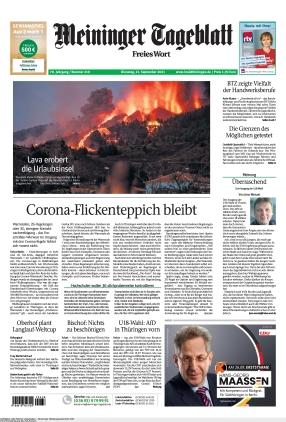 Meininger Tageblatt (21.09.2021)