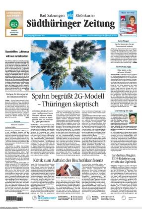 Südthüringer Zeitung (21.09.2021)