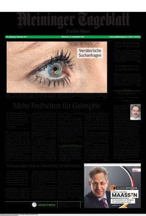 Meininger Tageblatt (22.09.2021)