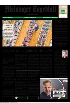 Meininger Tageblatt (23.09.2021)