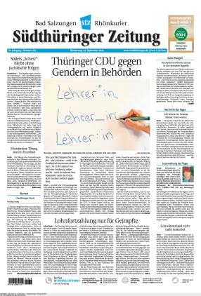Südthüringer Zeitung (23.09.2021)