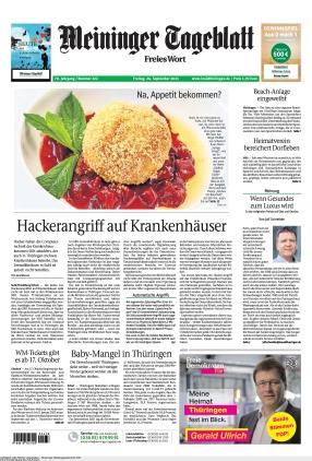 Meininger Tageblatt (24.09.2021)