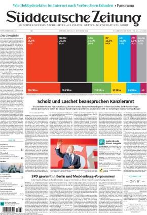 Süddeutsche Zeitung (27.09.2021)